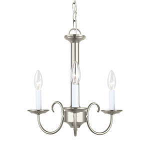 Holman Brushed Nickel 16-Inch Energy Star Three-Light Chandelier