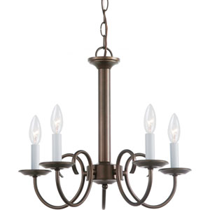 Holman Bell Metal Bronze  Five-Light Chandelier