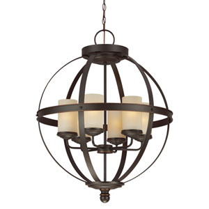 Sfera Autumn Bronze 32.25-Inch Six Light Single Tier Chandelier