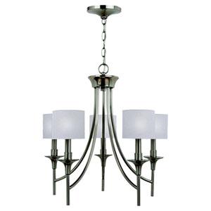 Stirling Five-Light Brushed Nickel Chandelier