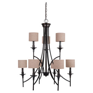 Stirling Burnt Sienna Nine-Light Chandelier