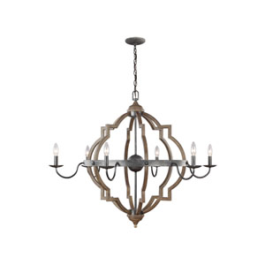 Socorro Stardust 40-Inch Energy Star Six-Light Chandelier