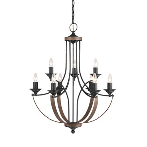 Corbeille Stardust 27-Inch Energy Star Nine-Light Chandelier