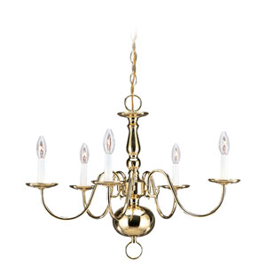 Traditional Five-Light Chandelier