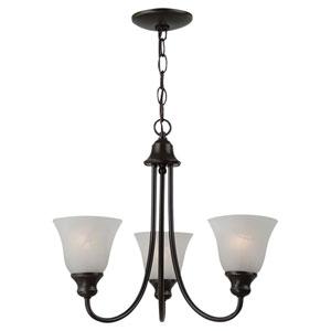 Windgate Three-Light Heirloom Bronze Chandelier