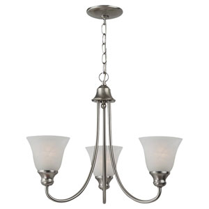Windgate Three-Light Brushed Nickel Chandelier