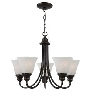 Windgate Five-Light Heirloom Bronze Chandelier