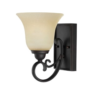 Del Prato Chestnut Bronze One-Light Wall Mounted Bath Fixture