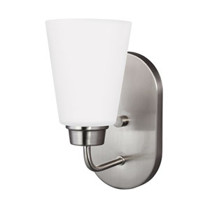 Kerrville Brushed Nickel One-Light Bath Fixture