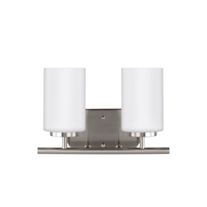 Oslo Brushed Nickel 12.5-Inch Two-Light Bath Light
