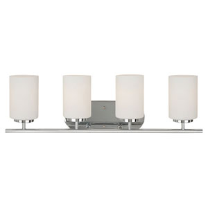 Oslo Chrome Four-Light Vanity Fixture