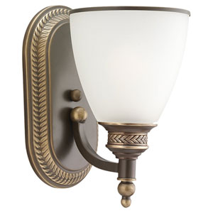 Laurel Leaf Estate Bronze One-Light Wall Mounted Bath Fixture