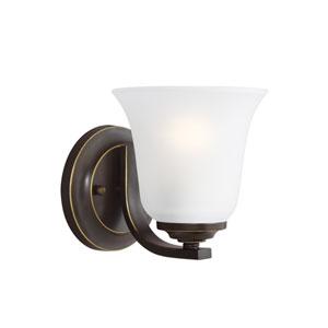 Emmons Heirloom Bronze 6-Inch One-Light Bath Light