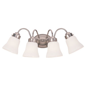 Sussex Brushed Nickel Four-Light Bath Fixture