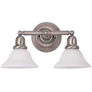 Sussex Brushed Nickel Two-Light Bath Fixture