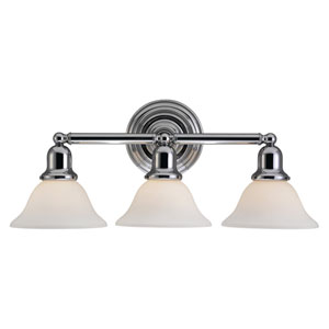 Sussex Chrome Three-Light Bath Fixture