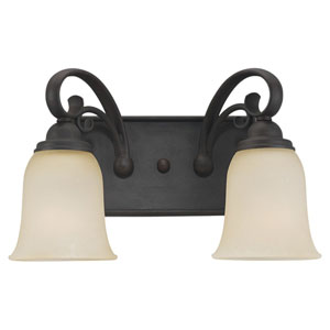 Del Prato Chestnut Bronze Two-Light Wall Mounted Bath Fixture