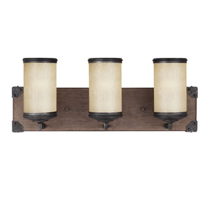 Dunning Stardust Three-Light  Wall Sconce with Creme Parchment Glass