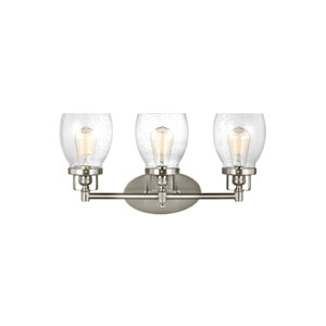 Belton Brushed Nickel 21-Inch Three-Light Bath Light