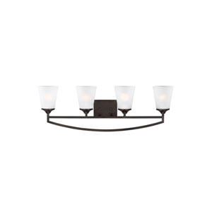 Hanford Burnt Sienna Four-Light Bath Fixture