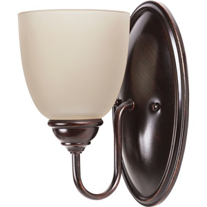 Lemont Burnt Sienna One-Light Wall Sconce with Cafe Tint Glass