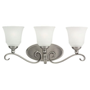 Parkview Antique Brushed Nickel Three-Light Bath Fixture