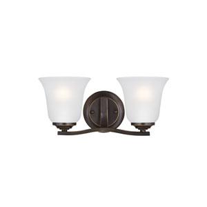 Emmons Heirloom Bronze 14-Inch Two-Light Bath Light