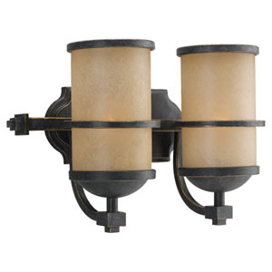 Roslyn Flemish Bronze Two-Light Bath Fixture