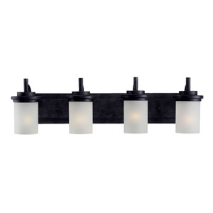 Winnetka Four-Light Blacksmith Bath Light
