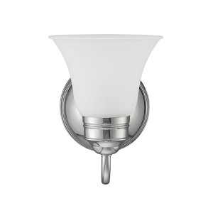 Gladstone Chrome One-Light Wall Mounted Bath Fixture