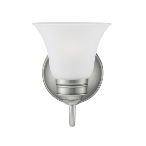 Gladstone Antique Brushed Nickel One-Light Wall Mounted Bath Fixture