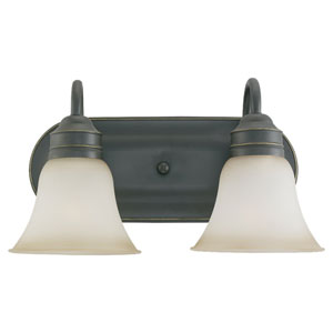 Gladstone Heirloom Bronze Two-Light Bath Fixture