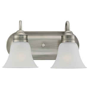 Gladstone Antique Brushed Nickel Two-Light Bath Fixture