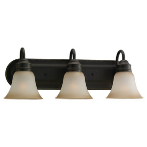 Gladstone Heirloom Bronze Three-Light Bath Fixture