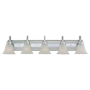 Gladstone Five-Light Chrome Bath Light