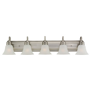 Gladstone Five-Light Antique Brushed Nickel Bath Light