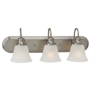 Windgate Three-Light Brushed Nickel Bath Light