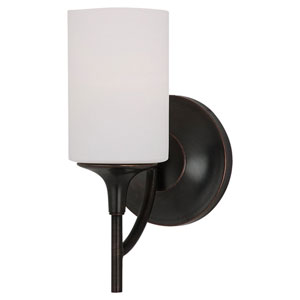 Stirling Burnt Sienna One-Light Wall Mounted Bath Fixture