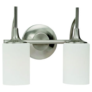 Stirling Two-Light Brushed Nickel Bath Light