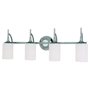 Stirling Four-Light Chrome Bath Light