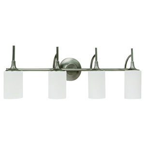 Stirling Four-Light Brushed Nickel Bath Light