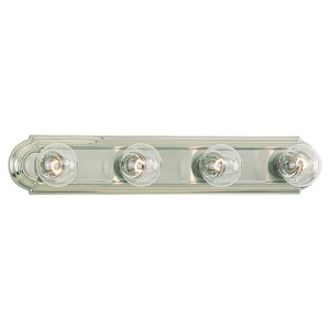 De-Lovely Brushed Nickel Four-Light Wall Mounted Bath Fixture