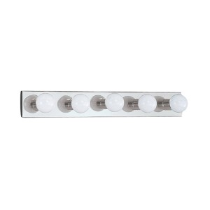Center Stage Chrome Five-Light Bath Bar Light