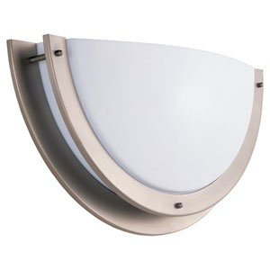 Nexus Brushed Nickel 20-Inch LED Wall Sconce with White Acrylic Diffuser