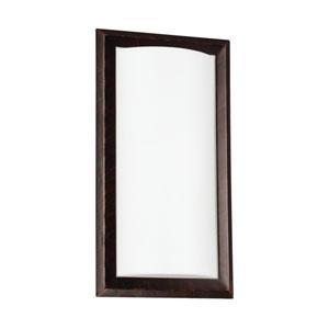Burnt Sienna One Light Bathroom Wall Sconce with Satin WhiteAcrylic