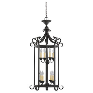 Del Prato Chestnut Bronze Eight-Light Foyer Pendant