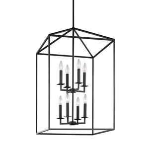 Perryton Blacksmith 19-Inch Energy Star Eight-Light Hall Foyer