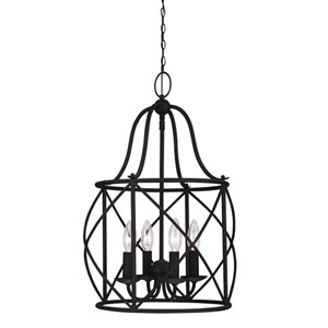 Turbinio Blacksmith 21.5-Inch Four Light Hall Foyer Pendant