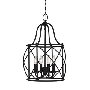 Turbinio Blacksmith 15-Inch Energy Star Four-Light Hall Foyer