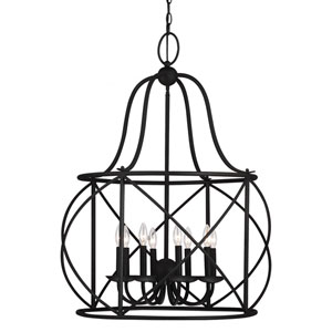 Turbinio Blacksmith 37.75-Inch Eight Light Hall Foyer Lantern with